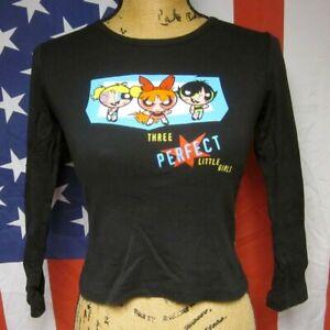 POWERPUFF GIRLS med T shirt animation Cartoon Network longsleeves tee Blossom