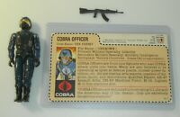 GI Joe Cobra Officer Swivel Arm v1.5 Figure Complete w/ Uncut Red Back File Card