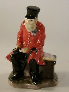 "Rare Miniature Royal Doulton 3"" Figurine Chelsea Hospital Pensioner c1930 VGC"