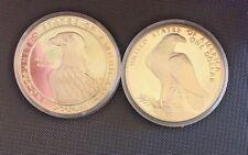 1983 & 1984 2 pc LA OLYMPICS CONSTITUTION SILVER DOLLAR PROOF SET w/box & coa