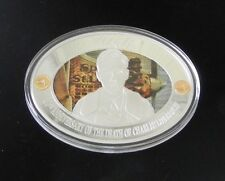 2014 Charles Lindbergh 40th Anniversary Silver Plated  & Spot Gold Commemorative