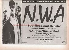 N.W.A. 100 Miles and Runnin' 1990 UK Press ADVERT 12x8 inches