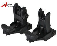 Tactical Flip-Up BackUp Front and Rear Sight Set for 20mm Rail Military Hunting