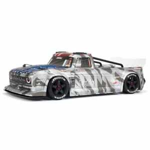 ARRMA 1/7 INFRACTION 6S BLX Street Basher RC On Road Car - Silver...
