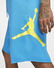 Jordan Jumpman Logo Shorts Fleece/French Terry Blue/Yellow  [AQ3115-482] Size L