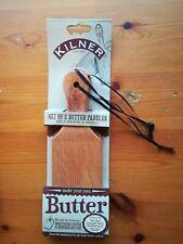 Kilner Set of 2 Butter Paddles,Make,Mould & Shape your own homemade butter