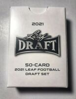 2021 Leaf Draft Football RC's Complete 50 Rookie Card Set Trevor Lawrence,Wilson