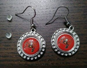 Tampa Bay Buccaneers Earrings Bucs NFL Hypo Allergenic Fashion Jewelry Ear Rings