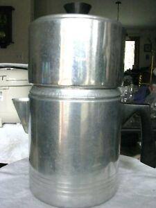 Vintage Chilton Ware 4 Piece Aluminum Stove Top 9 Cup Coffee Drip-O-Lator