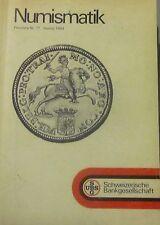 Numismatik. Gold- und Silbermünzen. Preisliste nr. 17. Herbst 1984. UBS.