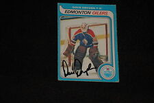 DAVE DRYDEN 1979-80 O-PEE-CHEE SIGNED AUTOGRAPHED CARD #71 OILERS