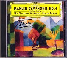 Pierre Boulez SIGNED MAHLER SYMPHONY NO. 4 Juliane Banse CD Cleveland Orchestra