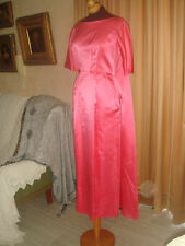 VTG 60s SATIN TROPHY maxi PARTY COCKTAIL PROM WEDDING  BOW TRAIN DRESS GOWN