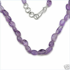 92.00ctw GENUINE AMETHYST ovals 18 inch Necklace NEW