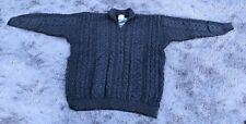 Kilronan Charcoal Grey Wool 1/2 Zip Pullover Sweater NWT XXL A233359