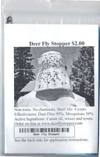 Deer Fly Repellent Stopper. Non toxic. No spray. See video on deerflystopper.com