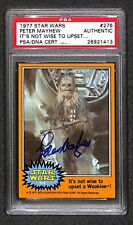 Peter Mayhew Chewbacca 1977 Topps Star Wars Signed Autographed Auto Card Psa/Dna