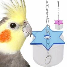 Parrot Pet Bird Cage Hanging Feeder Star Foraging Cockatoo Chew Feeding Cup Toys