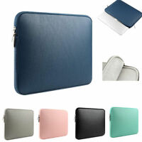 """For MacBook Air Pro Retina 11"""" 13"""" 15"""" PU Leather Laptop Sleeve Case Bag Pouch"""
