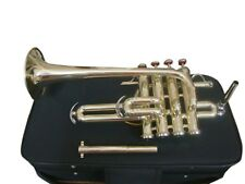 SUMMER SALE!!! Bb/A Flat PICCOLO TRUMPET NEW BRASS FREE CASE+7C MOUTHPIECE