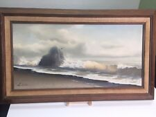 Inge Saastad - Seascape - oil painting - signed
