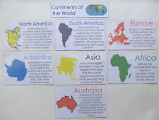 Teacher Made Educational Resource Bulletin Board Anchor Chart Posters Continents