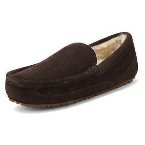 Men's Suede sheepskin fur Slippers Moccasin Slip-on Men Outdoor Causla Loafers