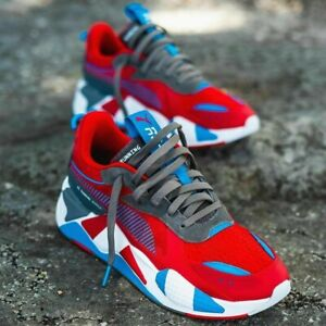 Puma RS-X Retro men's sneakers shoes red-steel gray-indigo 371511 01