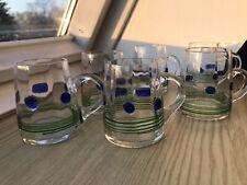 6 schöne Bowle-Gläser aus dem Jugendstil