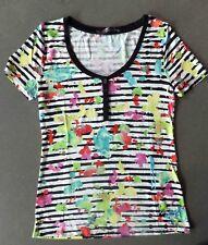 °  T-Shirt  imprimé / rayures LOUISE - DESIGUAL - Taille L  --> en très bon état
