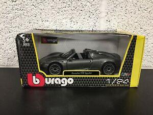 Burago Porsche 918 Spyder - Collectable 1/24 Diecast Toy Car - Boxed