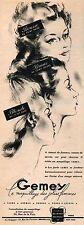 ▬► PUBLICITÉ ADVERTISING AD Maquillage Fard Crème Poudre GEMEY 1947