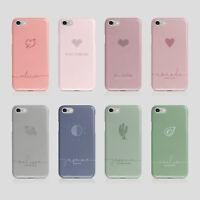 Personalised Initials iPhone Samsung Hard Phone Case Aesthetic Cactus Avocado