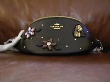 Coach Leather Gemstone Belt Bag (Black) - NWT (F72831)