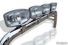 To Fit Nissan Navara 2005 - 2016 D40 Sport Roll Bar S/S Rollbar+ 4 X Oval Spots