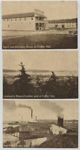 3 1908 Cutler Ontario Canada Postcards