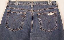 Calvin Klein Womens Denim Jeans Cropped Double Stone Wash Size 7 Blue