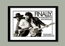 BRUCE SPRINGSTEEN POSTER.  BORN TO RUN PROMO   LARGE A2 (60 X 40 CM) PRINT