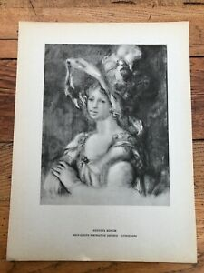 1946 french impressionists print - auguste renoir . dieterle