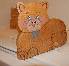 Cat Kitten Wooden Sliding Adjustable Book Rack~Childs Room~DVDs~CDs~Lots of Uses