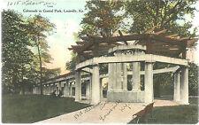 Colonnade in Central Park LOUISVILLE KENTUCKY KY Postcard  postmarked 1909