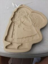1989 Brown Bag Cookie Art Mold Santa Hill Design