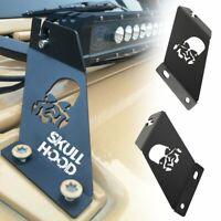 """Skull Hood Mounting Brackets 20""""-22"""" LED Light Bar For 2007-up Jeep Wrangler JK"""