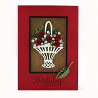 flower basket metal cutting dies stencil scrapbook album paper embossing craf 3C