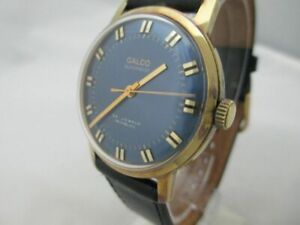 NOS NEW SWISS MADE GOLD PL GALCO AUTOMATIC WATCH 1960'S