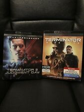 New listing Terminator 2 and Terminator Dark Fate 4k Slipcovers Only Rare Oop