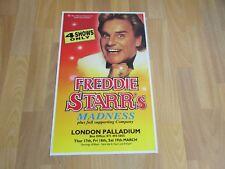 Freddie STARR's Madness 4 Shows Only Original LONDON Palladium Theatre Poster