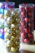 28 goldfarbene Weihnachtskugeln Ø 6cm Christbaum Kugel Weihnachtsdeko
