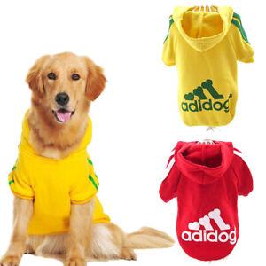Dog Pet Hoodie Shirt Coat Clothes Soft Warm Jacket Puppy Cat 2 Leg Sweatshirt