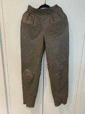 Vintage Retro Ladies Palazzi Genuine Leather Brown Pants